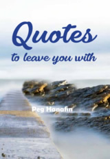 Quotes to leave you with - Book Front cover